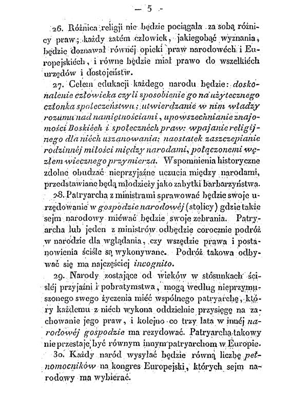 Konstytucja dla Europy z 3 maja 1831 r. - projekt Wojciecha Bogumiła Jastrzębowskiego